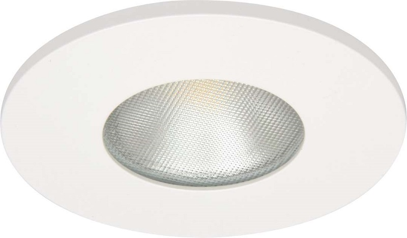 Downlight MD-315, LED, 3W, Matt Hvit, IP44/IP21 Malmbergs