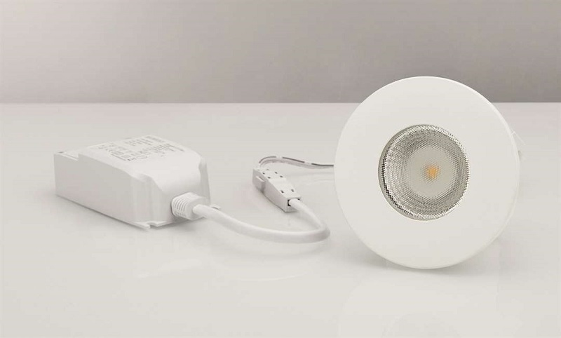 MD-315, LED-downlight, 5W, 230V, Matt hvit, IP44 Malmbergs