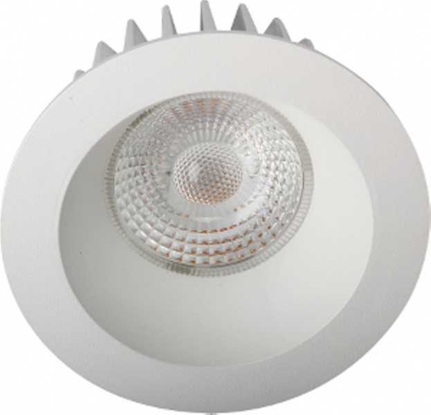 Juno soft cob+ 10w/827 matt hvit ip44 650lm @s downlight Unilamp